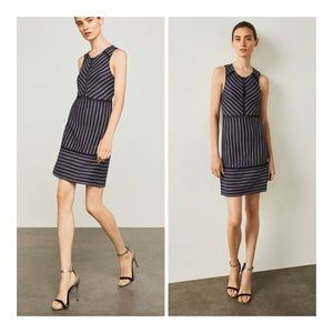 BCBGMAXAZRIA Stripe Jacquard Cocktail Dress/XXS